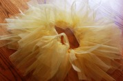 Yellow DIY Rip Tutu