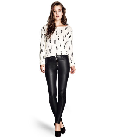 HM Faux Leather Pants