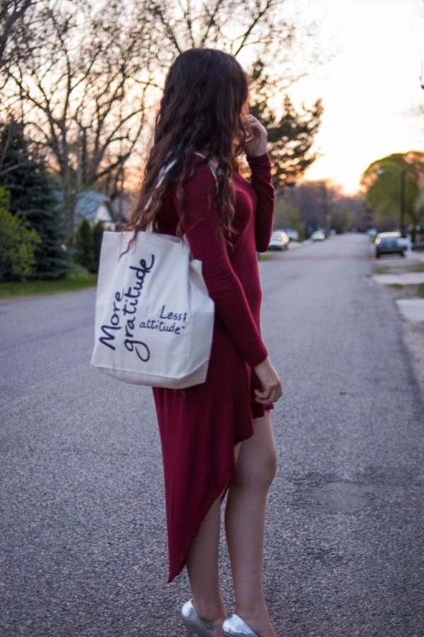 Wine High-Low Dress |LeMotto